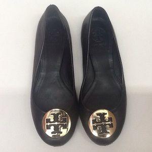 Tori Burch Black Slip On Flats Size 7